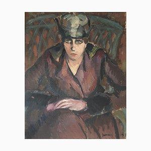 René Guinand, Retrato de mujer, 1918