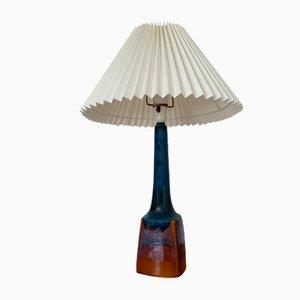 Lámpara danesa vintage de cerámica y teca de Søholm, años 60