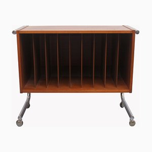 Rosewood and Chrome Records Case, 1970s