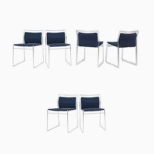 Steel and Cotton Chairs by Kazuhide Takahama for Gavina, Set of 6