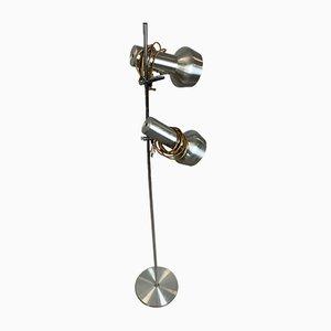 Scandinavian Lamp in Light Gray Metal, 1960s