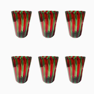 Italian Murano Drinking Glasses in the Style of Gio Ponti, Set of 6