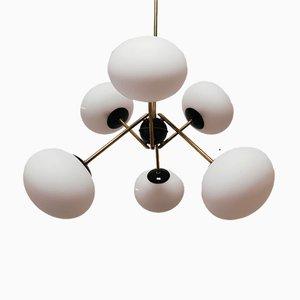 Sputnik Lampe mit Ovalem Glas