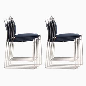 Stahl und Baumwolle Stühle von Kazuhide Takahama für Gavina, 8er Set