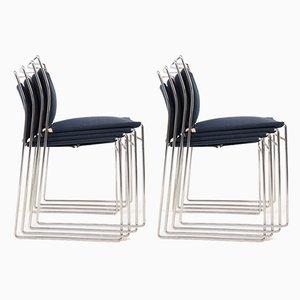 Steel and Cotton Chairs by Kazuhide Takahama for Gavina, Set of 8