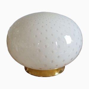 Lámpara de mesa vintage en forma de globo de cristal de Murano de Veluce, Italy, años 70