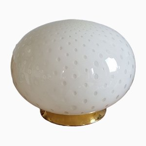 Vintage Murano Glass Globe Table Lamp from Veluce, Italy, 1970s
