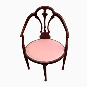 Mahogany Side Chair in Pink, 1920s