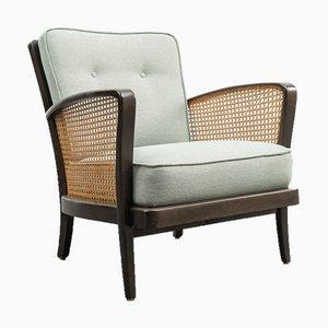 Streamline Design Armchair with Viennese Braid, 1950s