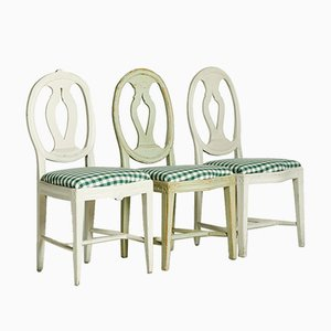 Gustavian Chairs, 1800s, Set of 3