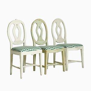 Gustavianische Stühle, 1800er, 3er Set