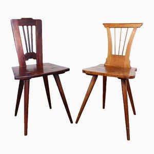 Germany Stühle aus Massivholz, 2er Set