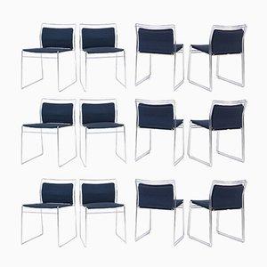 Steel and Cotton Chairs by Kazuhide Takahama for Gavina, Set of 12