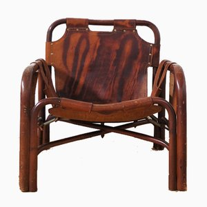 Chaise en Cuir par Tito Agnoli, 1950s