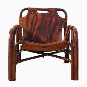 Sedia in pelle di Tito Agnoli, anni '50