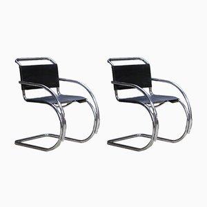 Chaises Cantilever MR20 par Mies Van Der Rohe, Set de 2