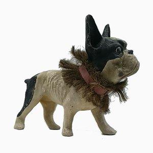 Papiermaché französische Bulldogge, 1900er