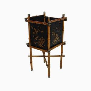 Cestino della carta straccia o portaombrelli Art Déco in bambù, anni '20