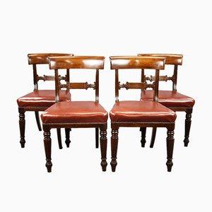 George III Esszimmerstühle aus Mahagoni, 4er Set