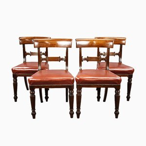 George III Mahogany Dining Chairs, Set of 4