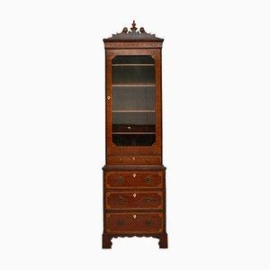 Antique Georgian Inlaid Mahogany Miniature Bookcase