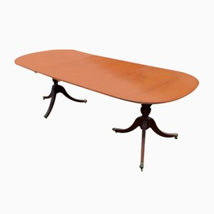 Mahogany Dining Table with 2 Leaves, 1920s