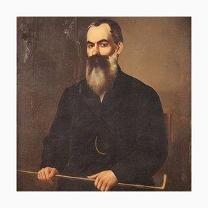 Retrato de un caballero, siglo XIX, óleo sobre lienzo