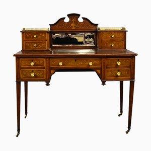 Viktorianischer Intarsie Schreibtisch