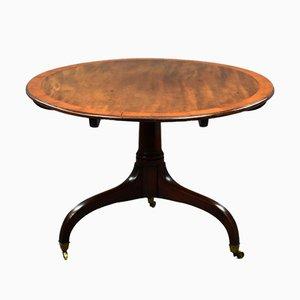 Mesa de desayuno ovalada George III de caoba