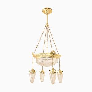 Lámpara de araña Jugendstil, años 10