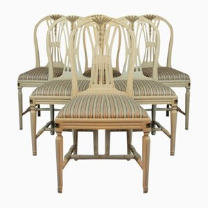 Gustavian Chairs, Set of 6