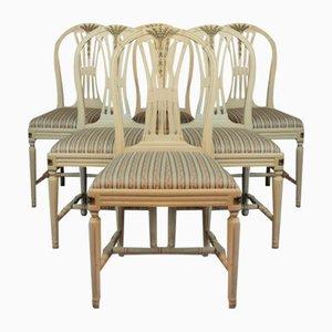 Gustavianische Stühle, 6er Set