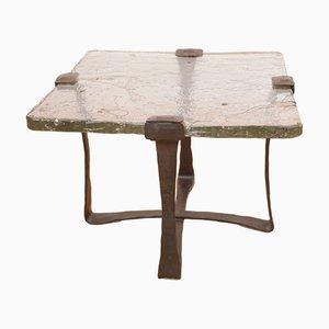 Tavolino brutalista attribuito a Lothar Klute