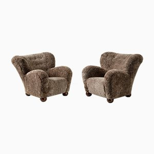 Hotel Aulanko Wing Chairs by Marta Blomstedt, 1939, Set of 2