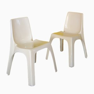Model 4850 Dining Chairs by Giorgina Castiglioni for Kartell, 1970s, Set of 2