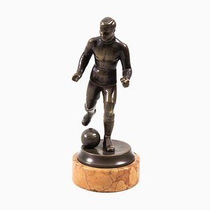 Bronze Football Player by Bruno Zach (1891-1945) for Walter Knoll / Wilhelm Knoll