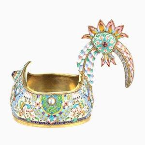 Silver Fairytale Bird Vessel or Ladle