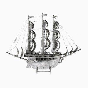 Silver Model of a 15th-16th Century Ship