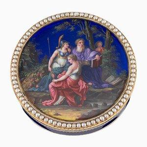 18K Gold and Enamel Snuffbox from Guidon, Rémond & Gide, 18th Century