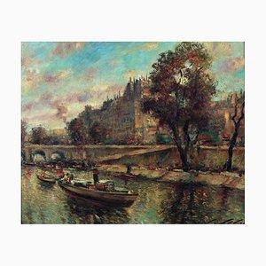 L. Liebert, Blick auf Paris von der Seine