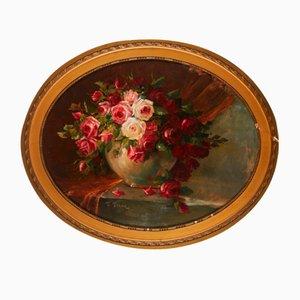 Still Life of Roses by T Franz