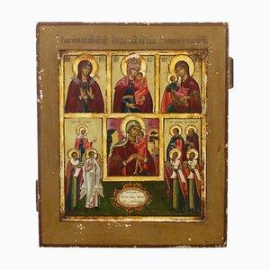Fünfteilige Mutter Gottes Ikone