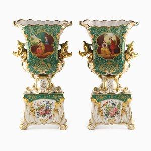 Vases with Gallant Scenes, Set of 2