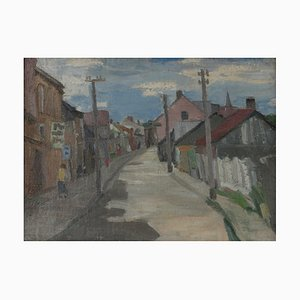 Paysage de Ville, 1920, Oļģerts Jaunarājs
