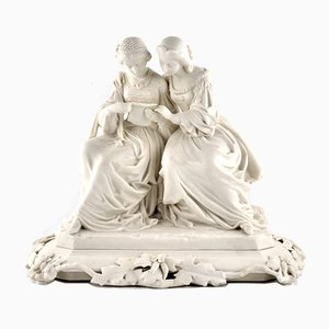 Two Ladies in Biscuit Porcelain