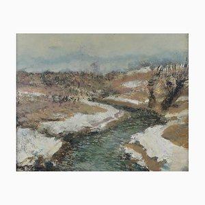 Ludolfs Liberts, Landschaft in Silbertönen, 1930er