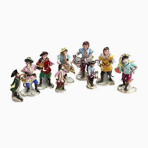 Porcelain Orchestra of Monkeys, Set of 9