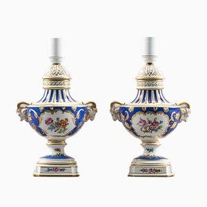 Lámparas de porcelana. Juego de 2