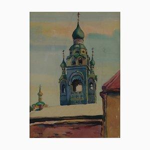 Watercolor Church .