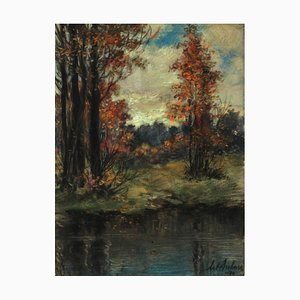 Arthur Duburs, Autumn Landscape, 1970
